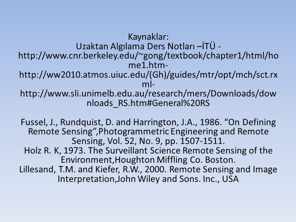 remote sensing and image interpretation by lillesand pdf