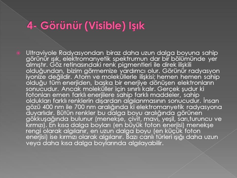 4- Görünür (Visible) Işık