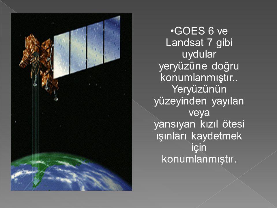 GOES 6 ve Landsat 7 gibi uydular