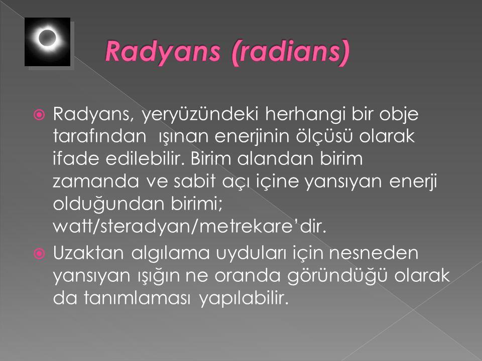 Radyans (radians)