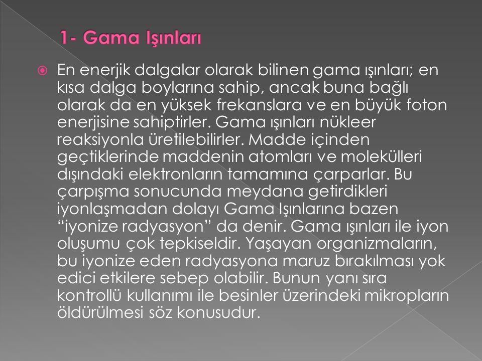 1- Gama Işınları