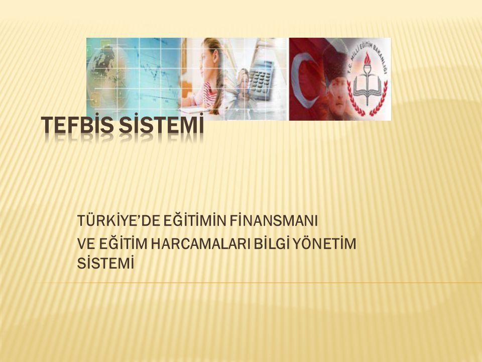 TEFBİS SİSTEMİ TÜRKİYE'DE EĞİTİMİN FİNANSMANI