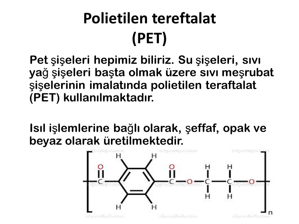 Polietilen tereftalat (PET)