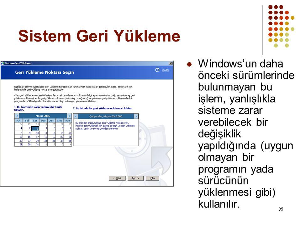 Sistem Geri Yükleme