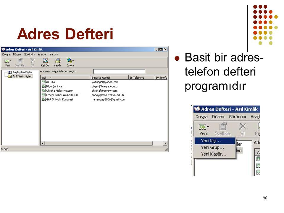 Adres Defteri Basit bir adres-telefon defteri programıdır