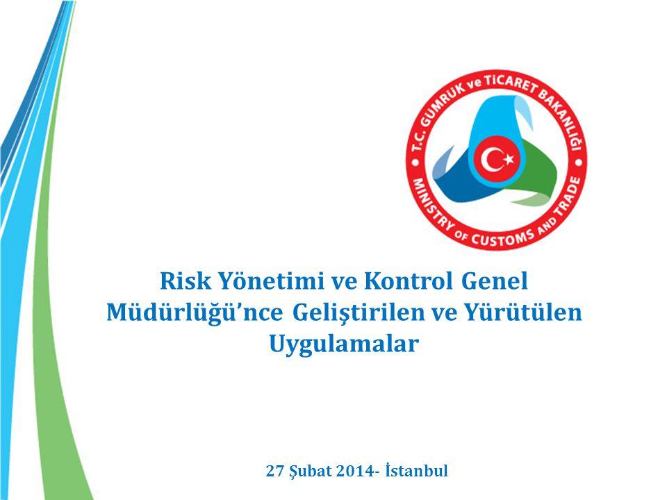 Risk Yönetimi ve Kontrol Genel Müdürlüğü'nce Geliştirilen ve Yürütülen Uygulamalar