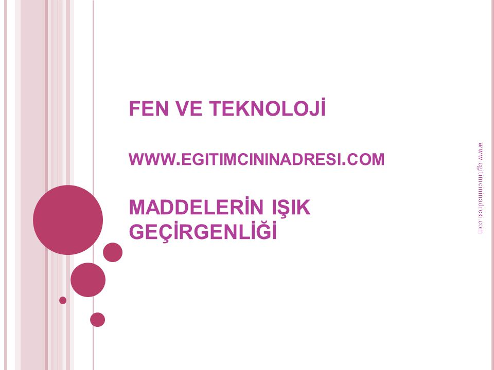 FEN VE TEKNOLOJİ www. egitimcininadresi