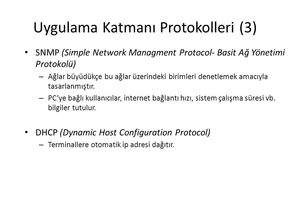 Uygulama Katmanı Protokolleri (3)