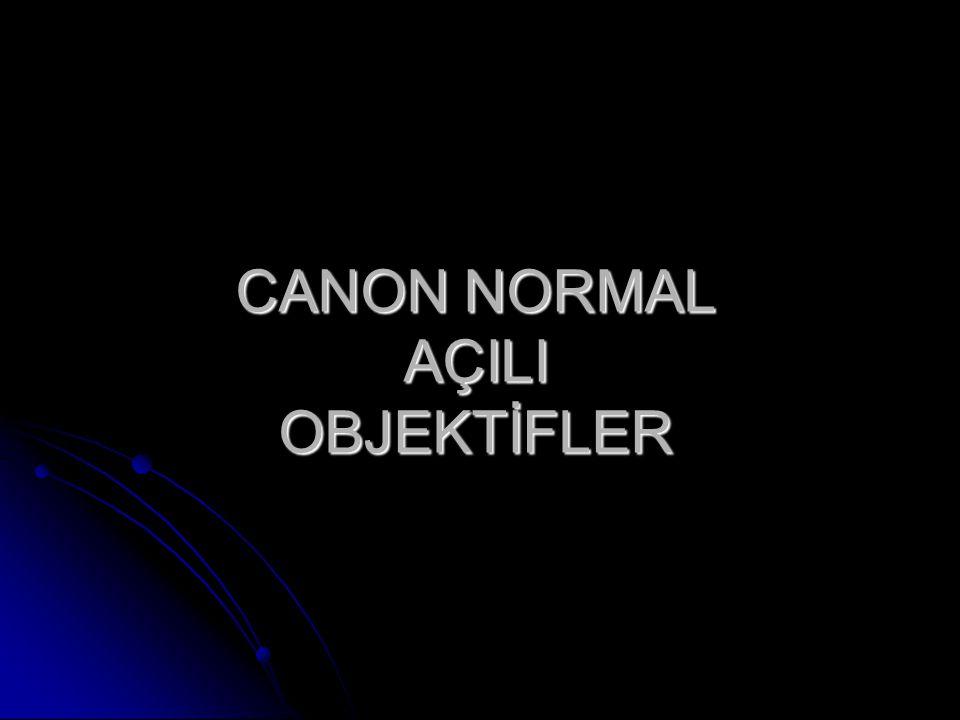 CANON NORMAL AÇILI OBJEKTİFLER