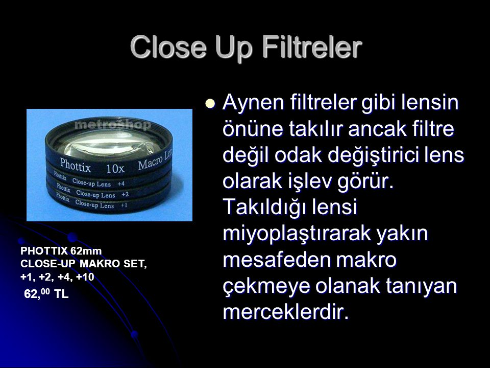 Close Up Filtreler