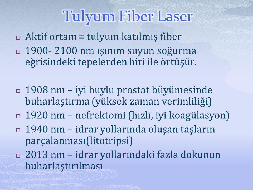 Tulyum Fiber Laser Aktif ortam = tulyum katılmış fiber