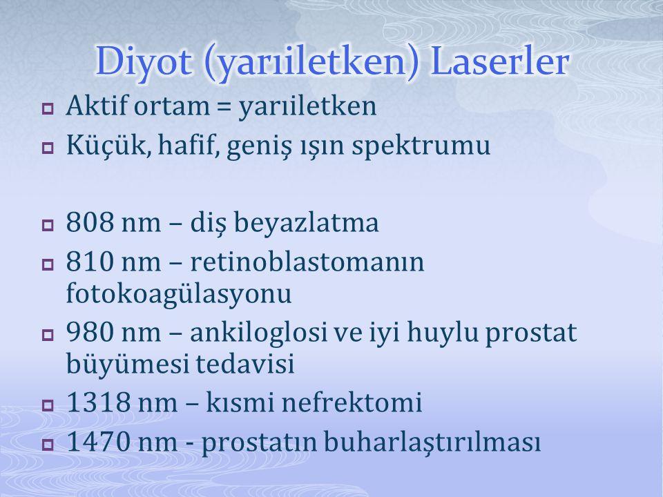 Diyot (yarıiletken) Laserler