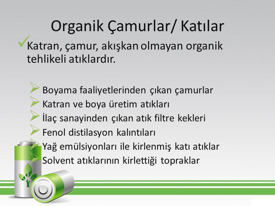Organik Çamurlar/ Katılar