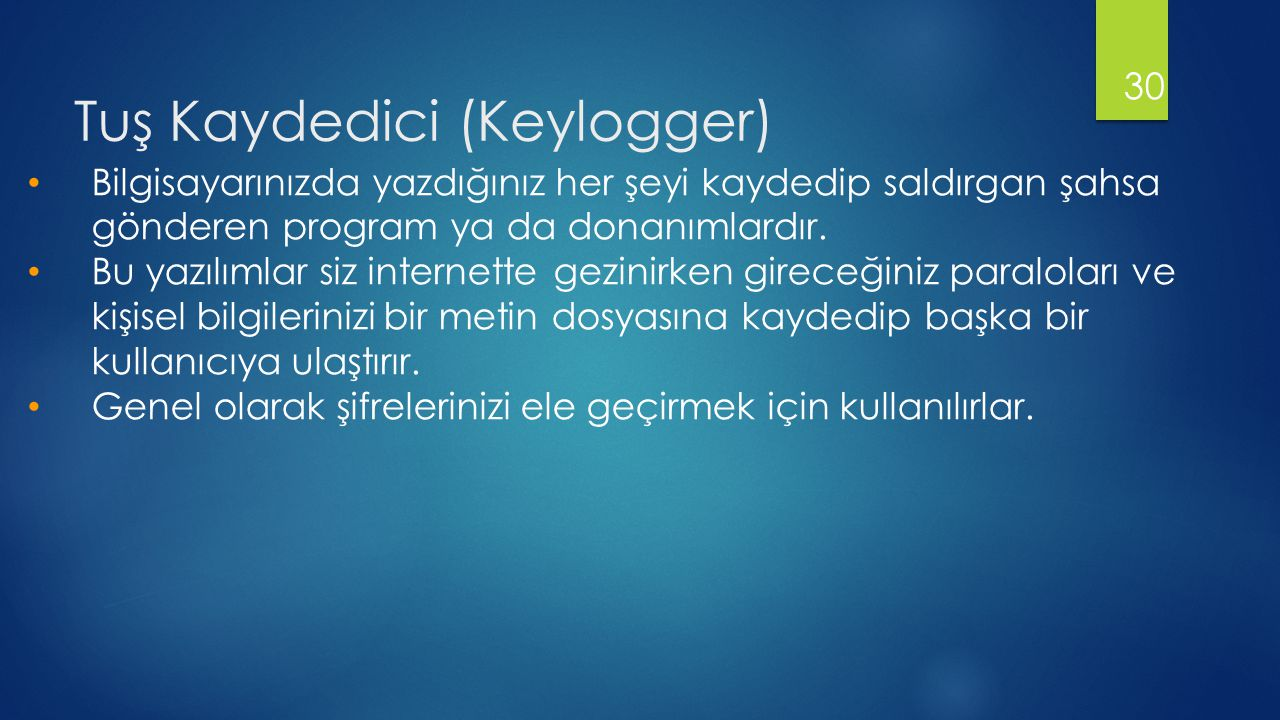 Tuş Kaydedici (Keylogger)