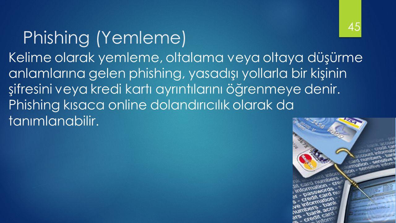 Phishing (Yemleme)