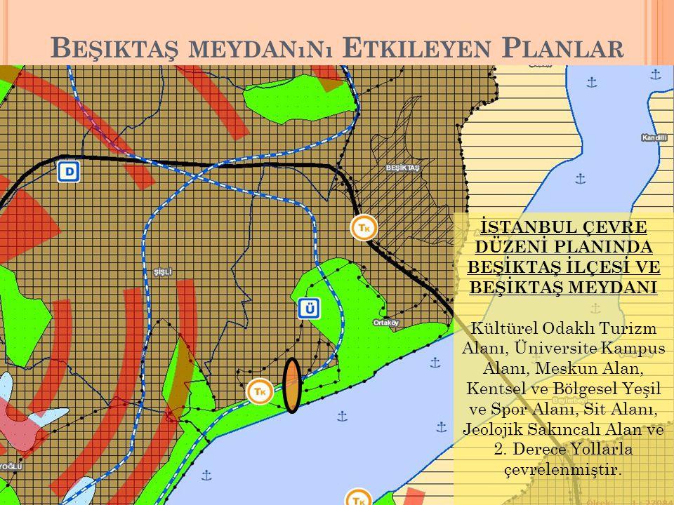 Beşiktaş meydanını Etkileyen Planlar