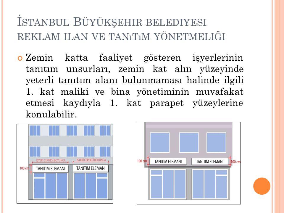 İstanbul Büyükşehir belediyesi reklam ilan ve tanıtım yönetmeliği