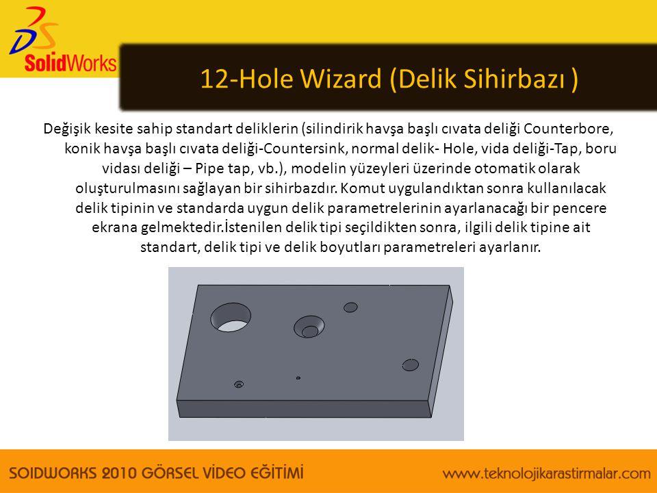 12-Hole Wizard (Delik Sihirbazı )