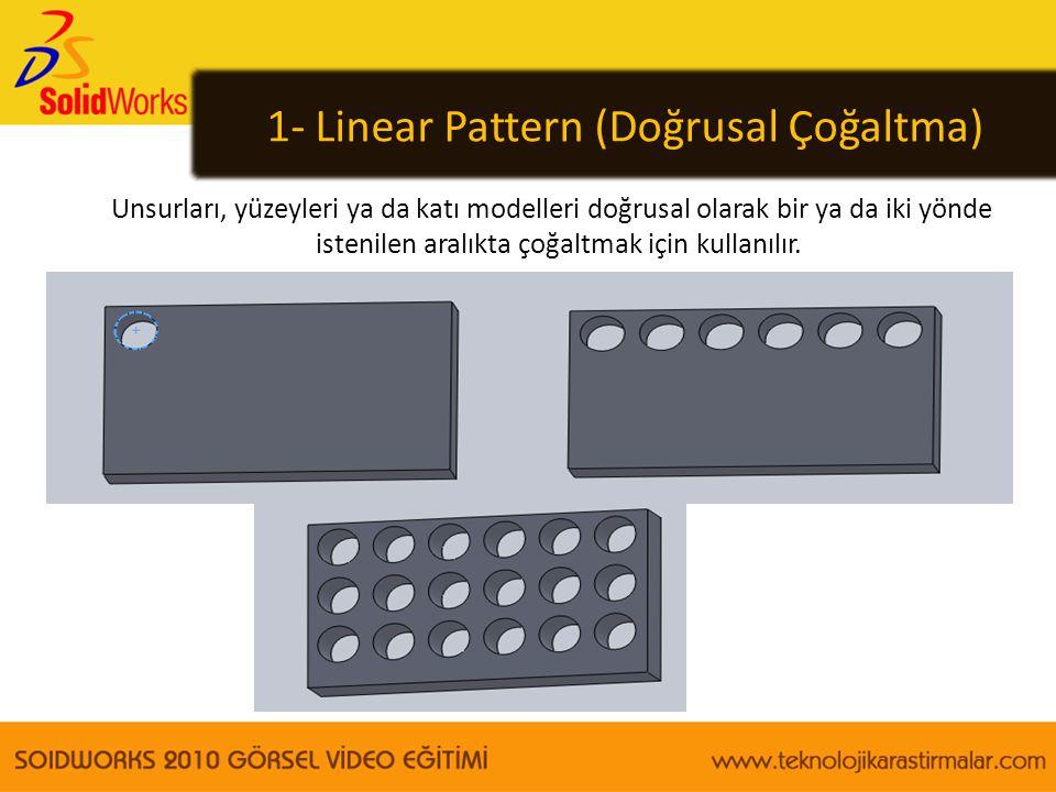 1- Linear Pattern (Doğrusal Çoğaltma)