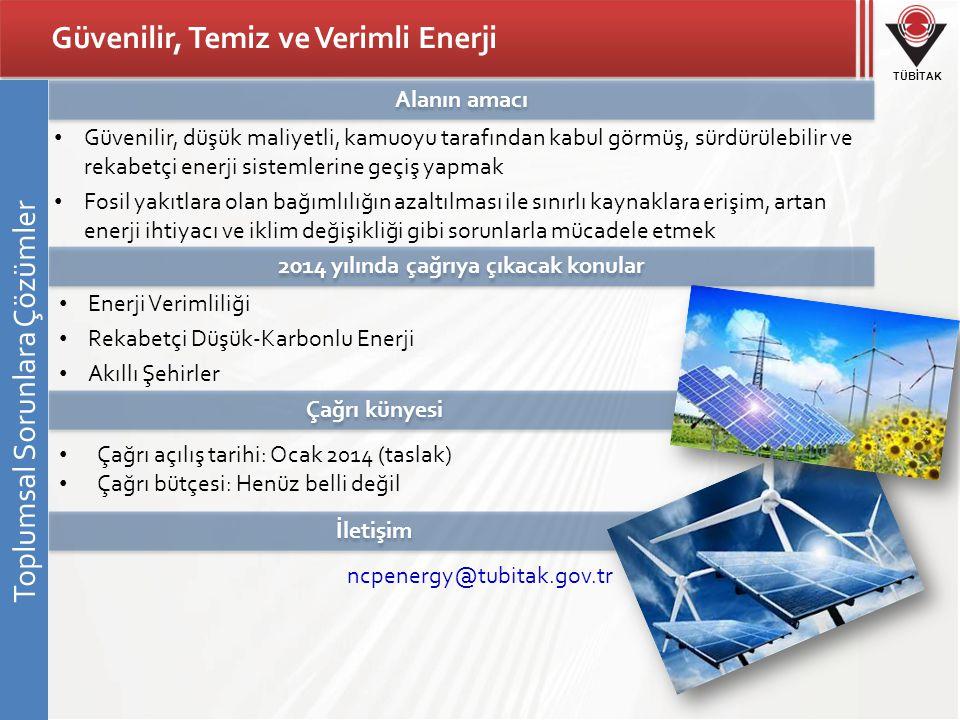 Güvenilir, Temiz ve Verimli Enerji