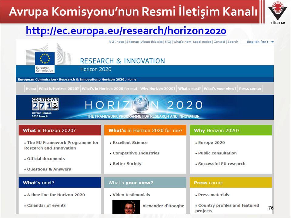 Avrupa Komisyonu'nun Resmi İletişim Kanalı