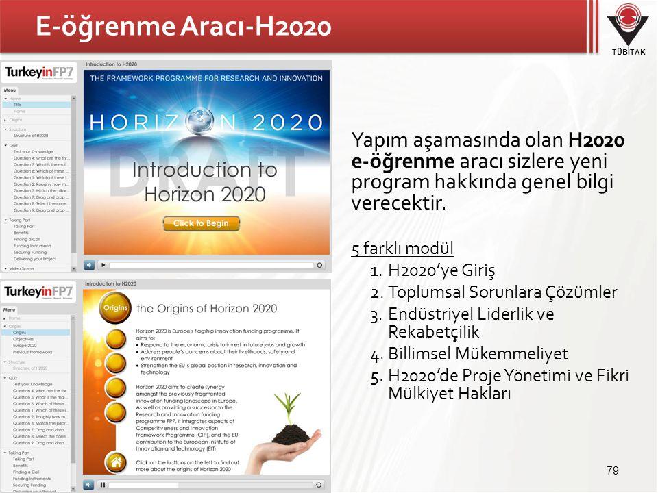 E-öğrenme Aracı-H2020 Yapım aşamasında olan H2020 e-öğrenme aracı sizlere yeni program hakkında genel bilgi verecektir.