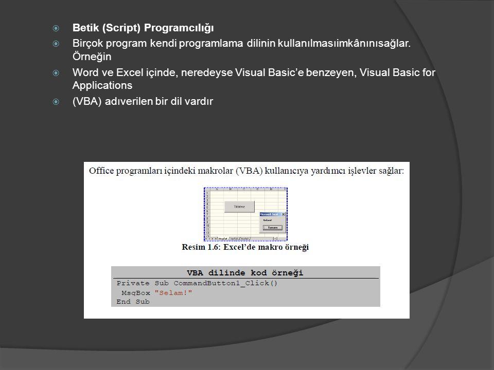 Betik (Script) Programcılığı
