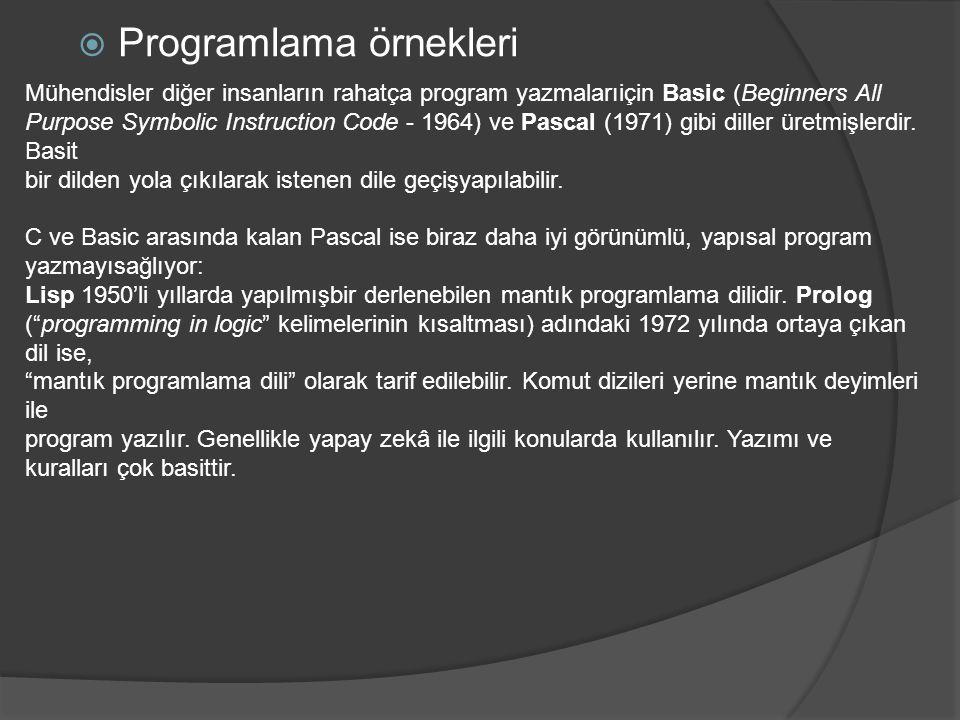 Programlama örnekleri