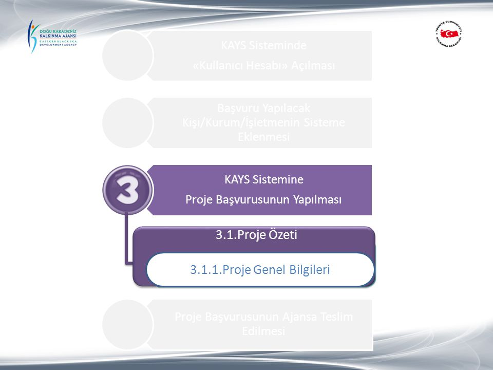 3.1.Proje Özeti 3.1.1.Proje Genel Bilgileri 1.Proje Özeti