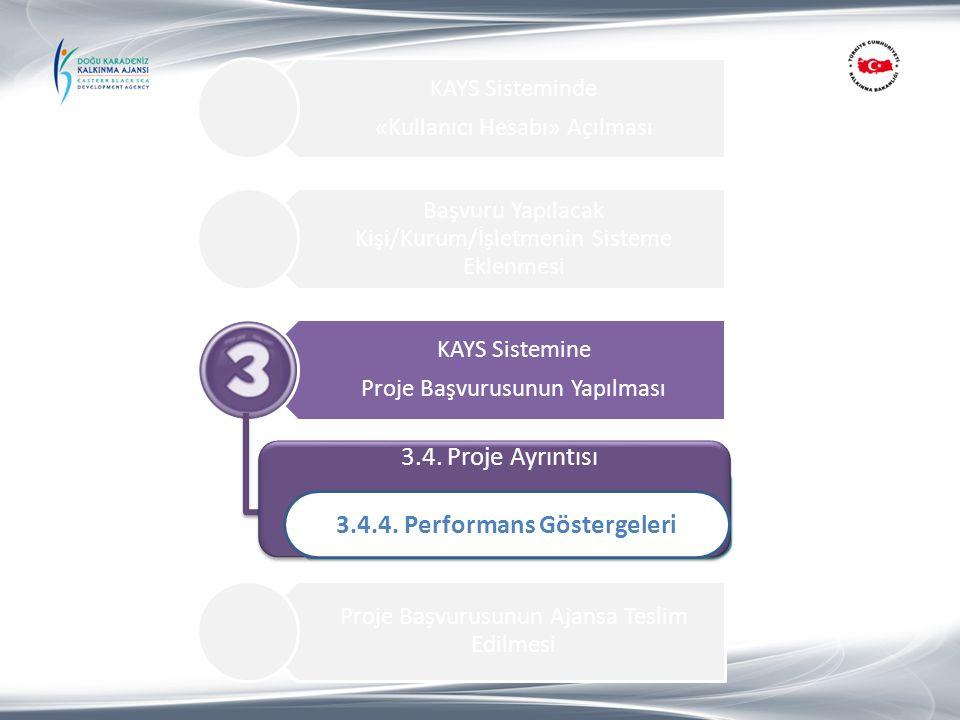 3.4.4. Performans Göstergeleri