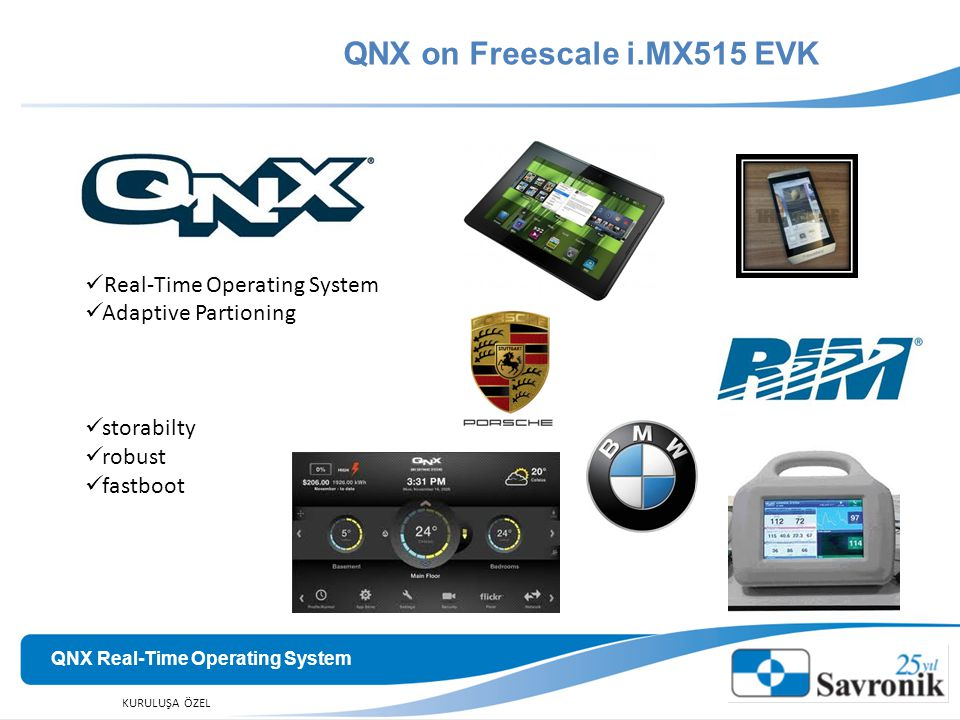 QNX on Freescale i.MX515 EVK QNX Real-Time Operating System
