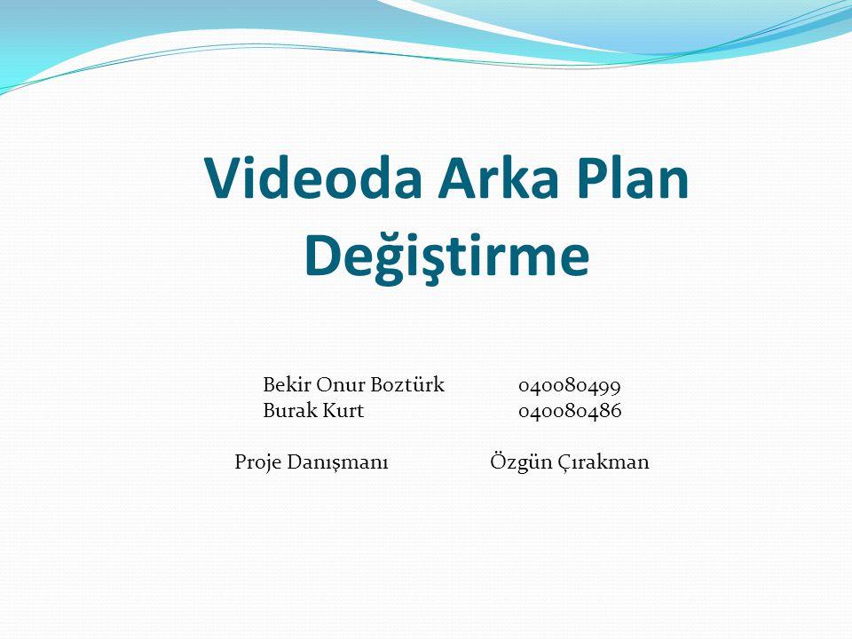 Videoda Arka Plan Değiştirme