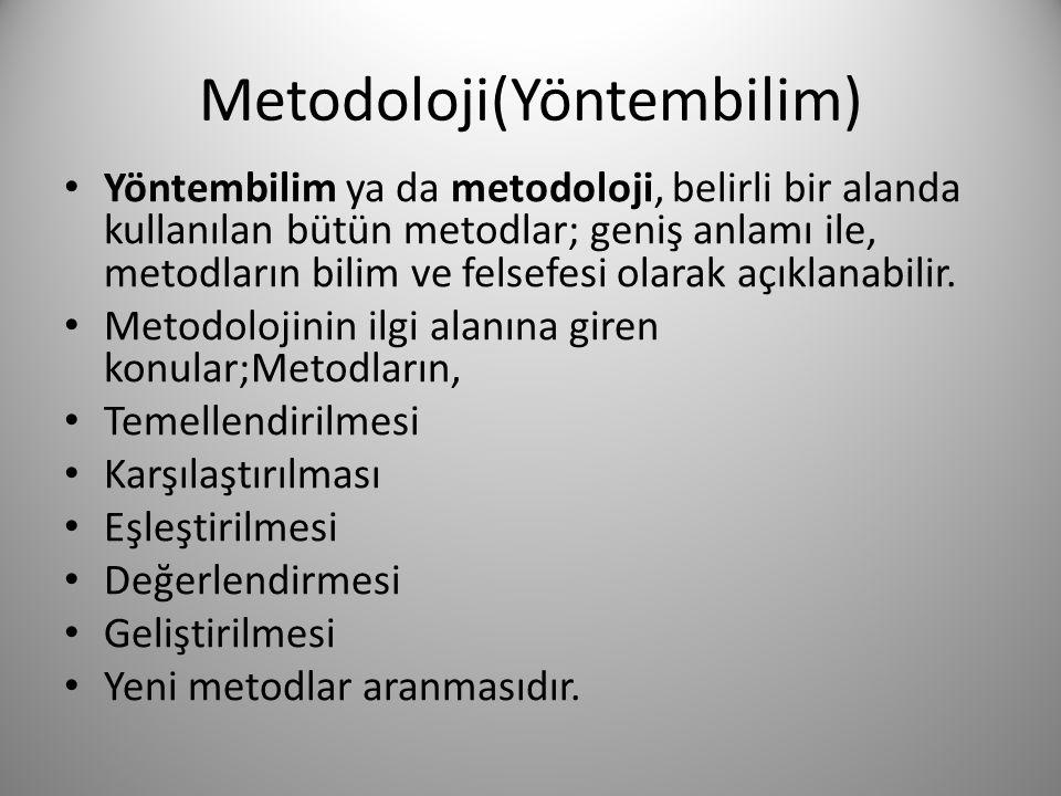 Metodoloji(Yöntembilim)