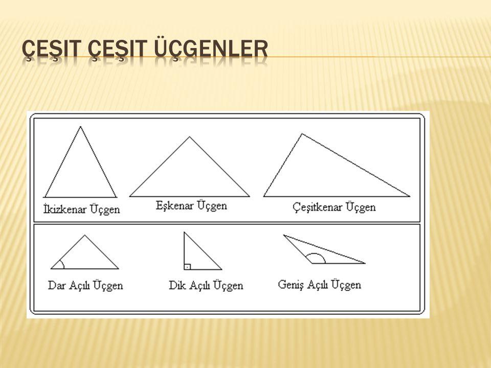 Çeşit çeşit üçgenler