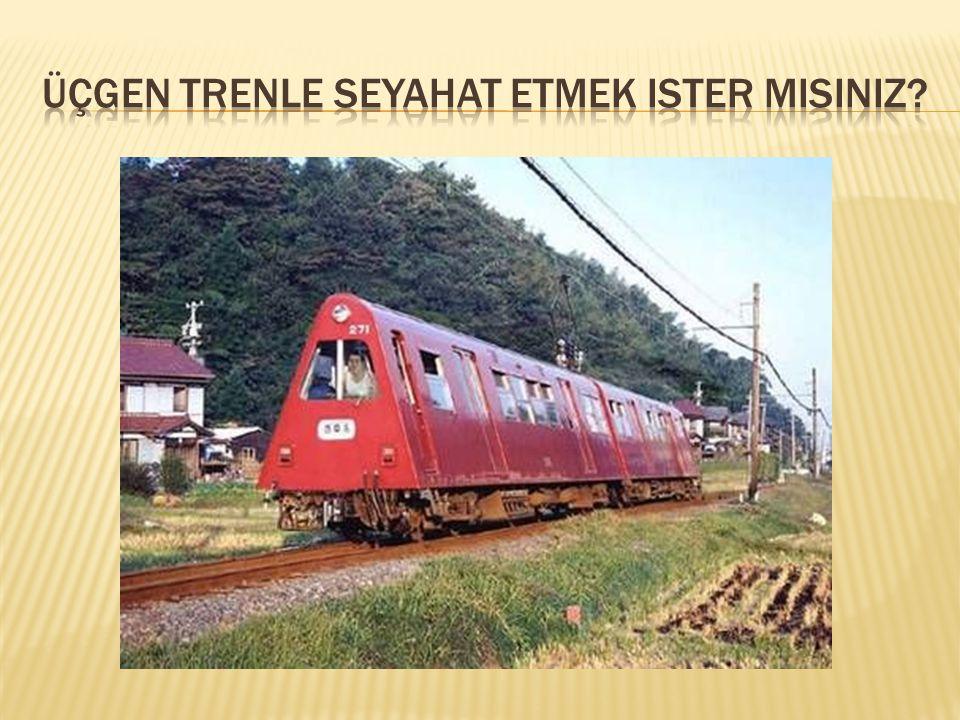 Üçgen trenle seyahat etmek ister misiniz
