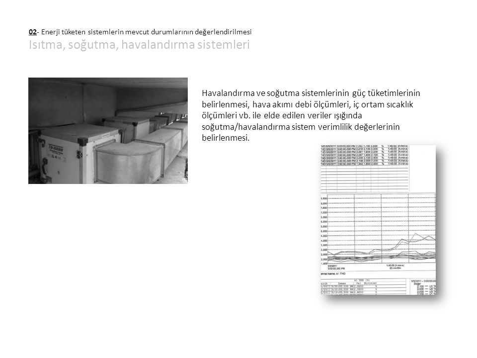 02- Enerji tüketen sistemlerin mevcut durumlarının değerlendirilmesi Isıtma, soğutma, havalandırma sistemleri