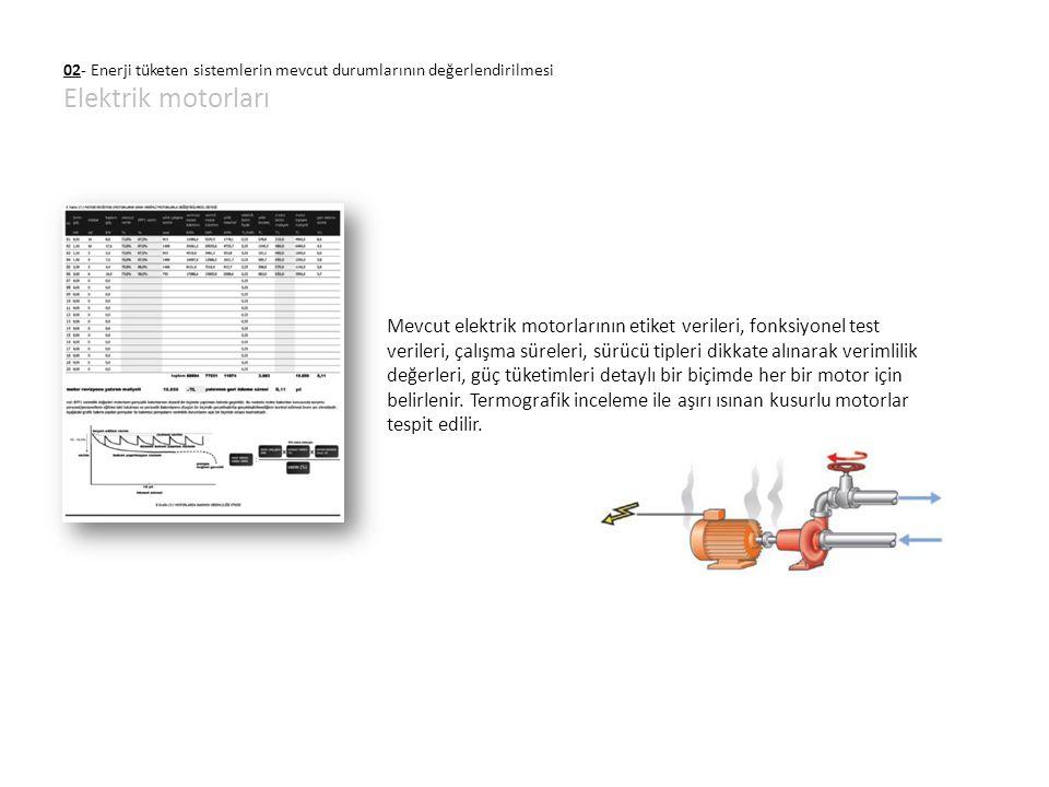 02- Enerji tüketen sistemlerin mevcut durumlarının değerlendirilmesi Elektrik motorları