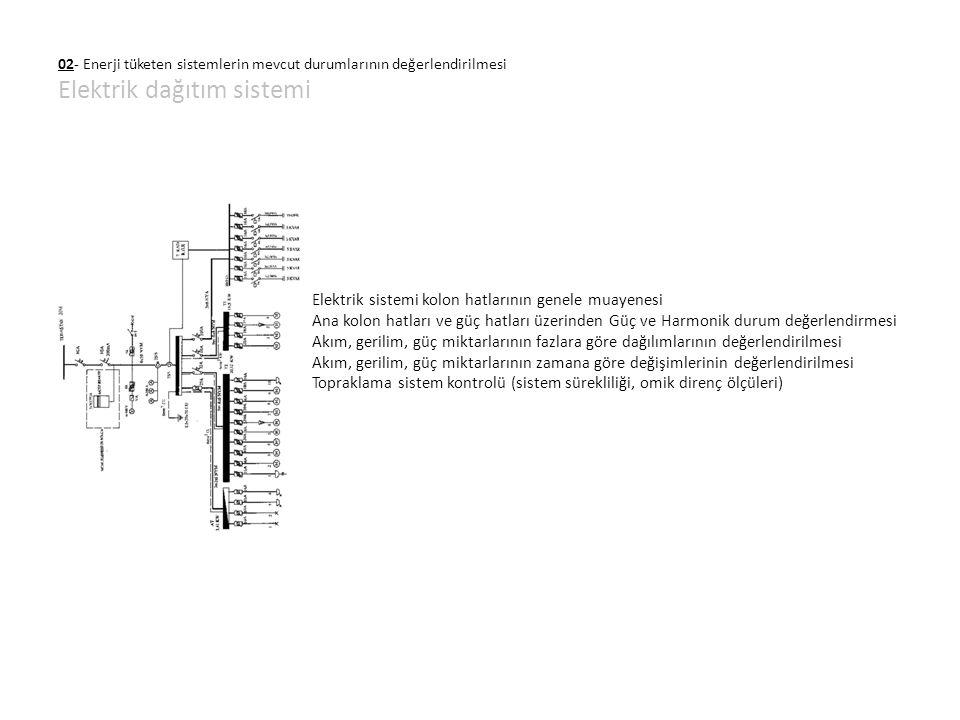 Elektrik sistemi kolon hatlarının genele muayenesi