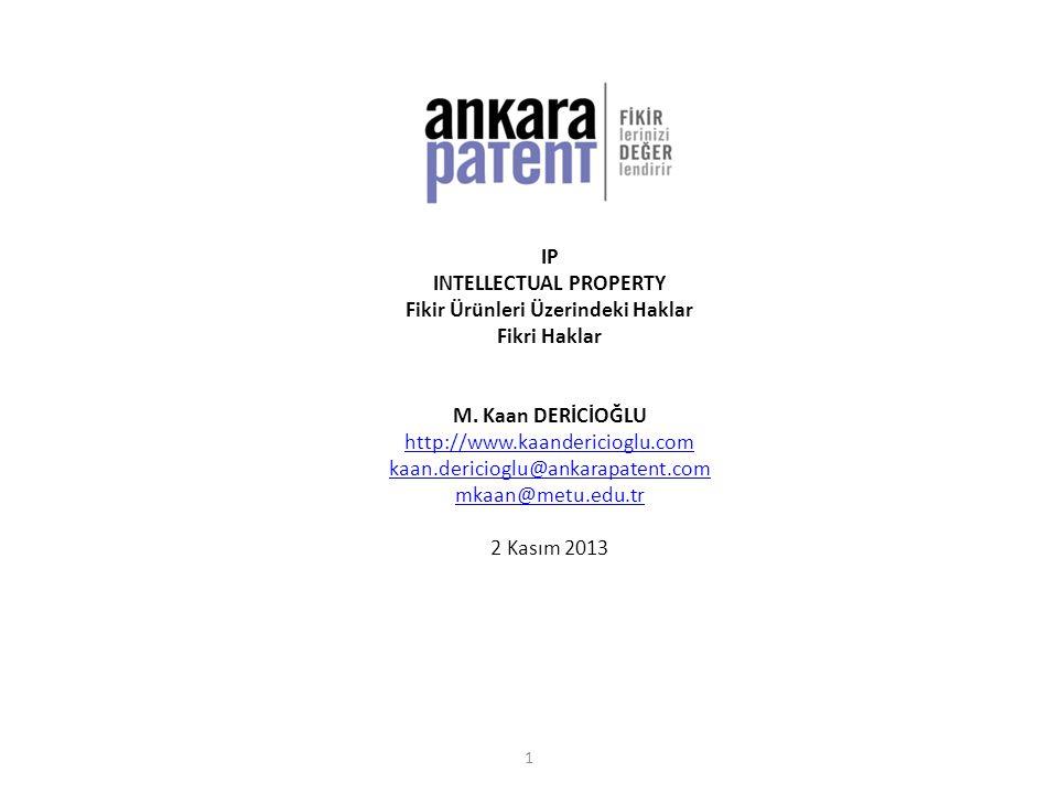 INTELLECTUAL PROPERTY Fikir Ürünleri Üzerindeki Haklar