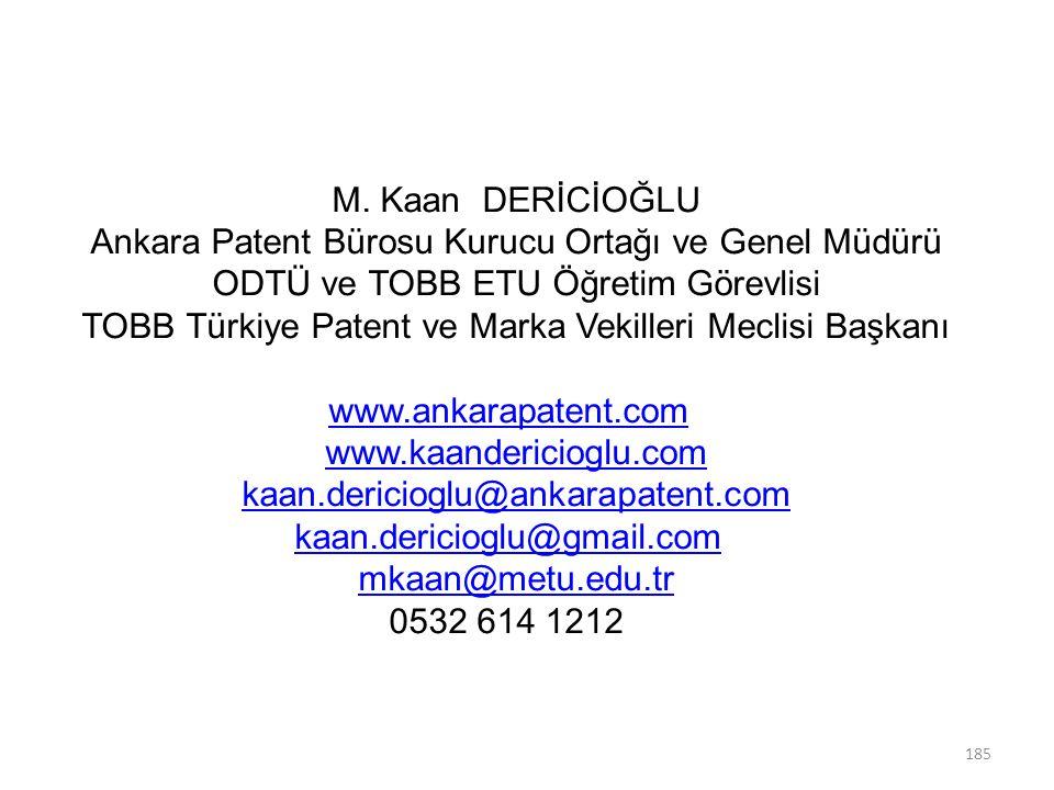 Ankara Patent Bürosu Kurucu Ortağı ve Genel Müdürü