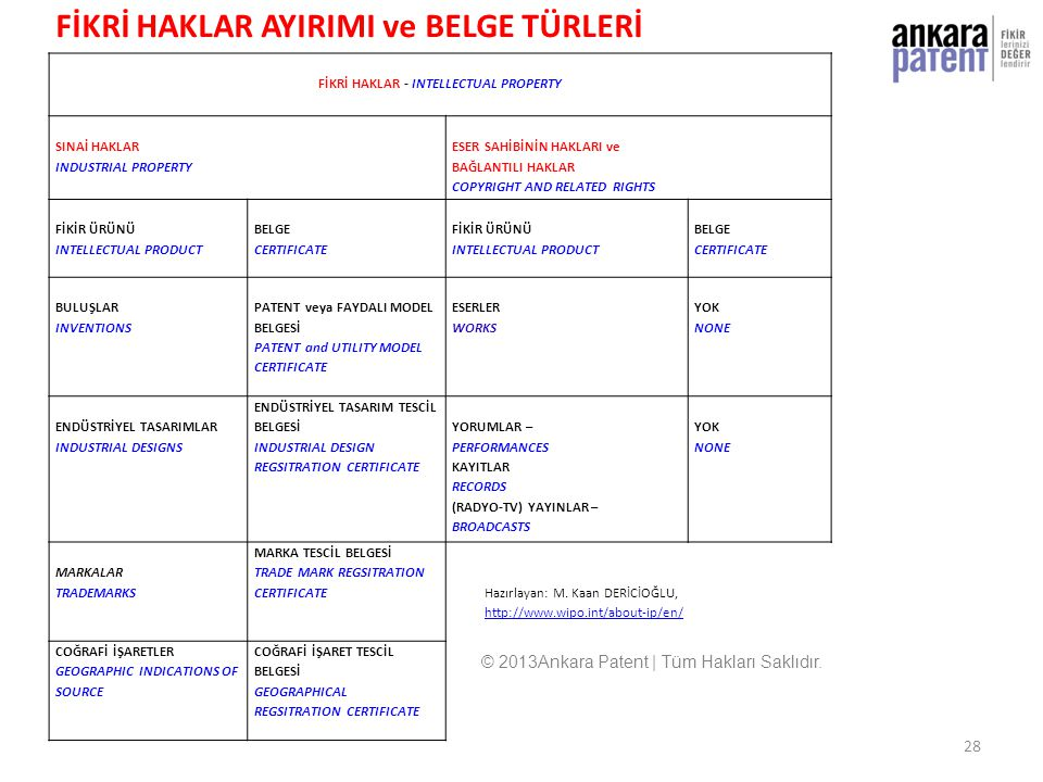 FİKRİ HAKLAR - INTELLECTUAL PROPERTY