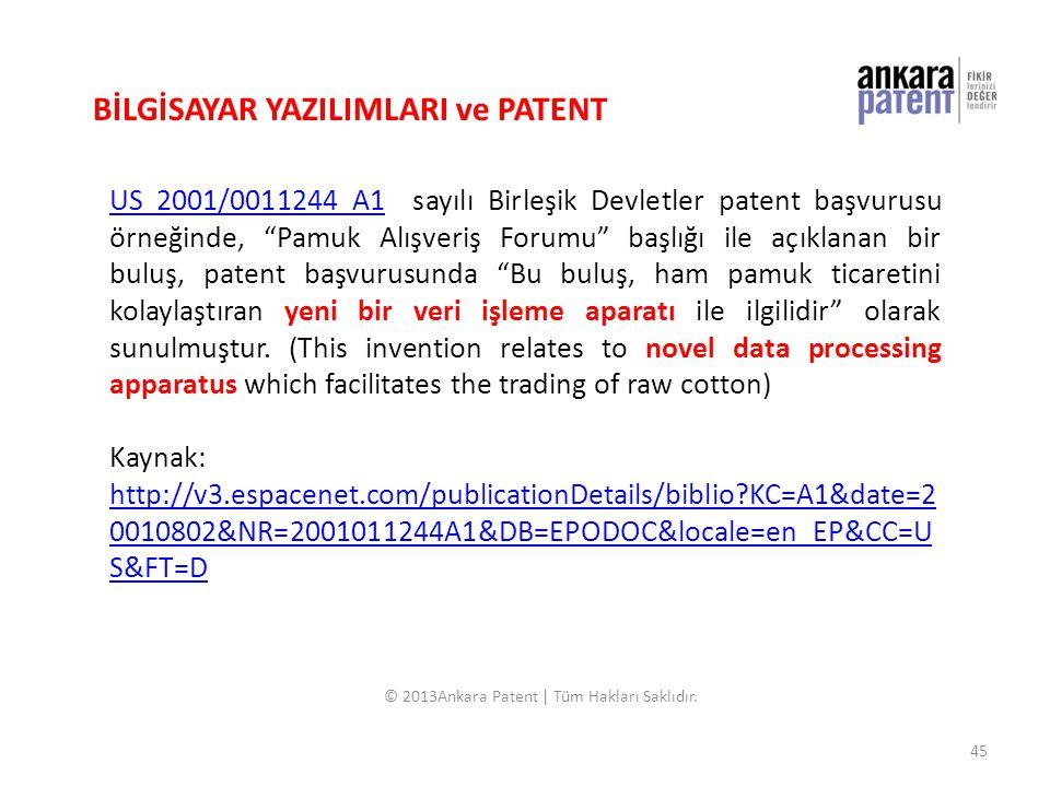 © 2013Ankara Patent | Tüm Hakları Saklıdır.