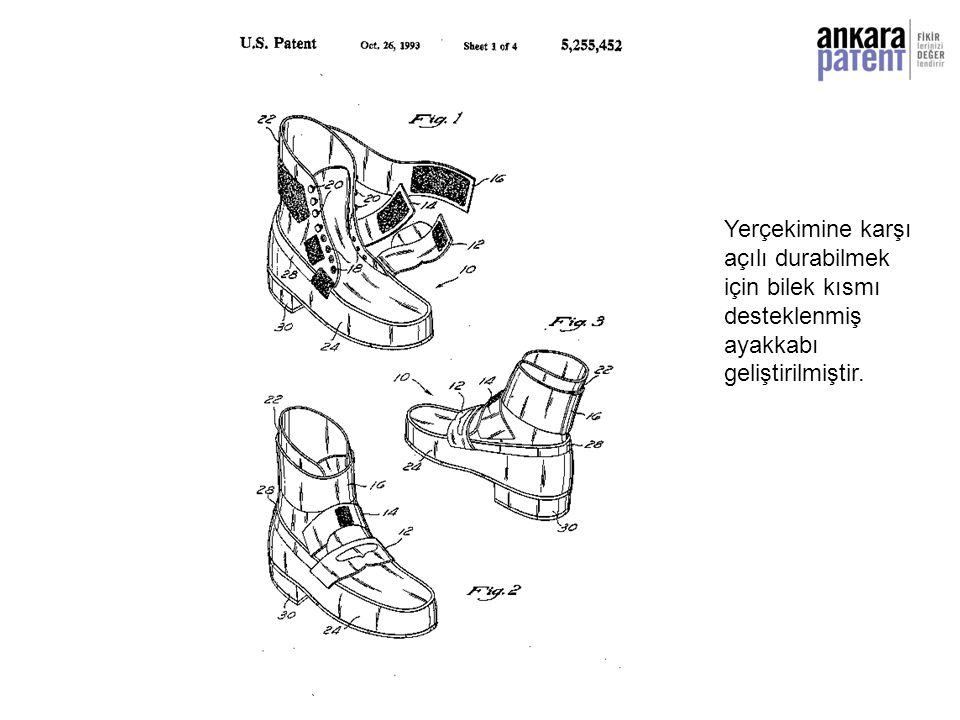Yerçekimine karşı açılı durabilmek için bilek kısmı desteklenmiş ayakkabı geliştirilmiştir.
