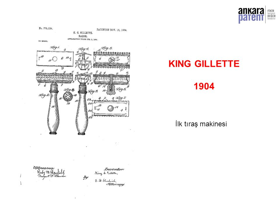 KING GILLETTE 1904 İlk tıraş makinesi