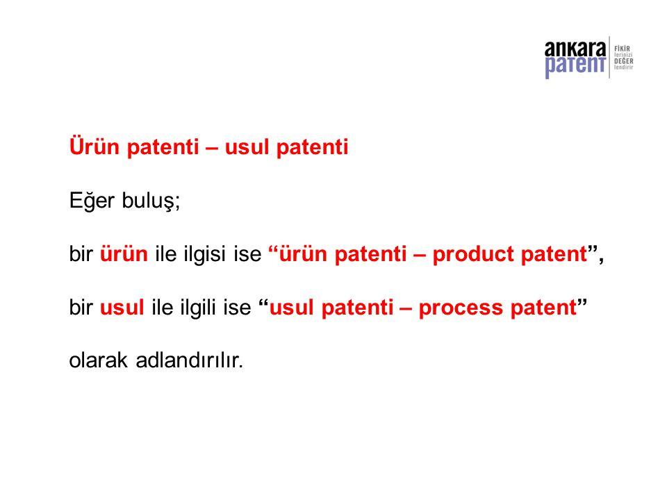 Ürün patenti – usul patenti