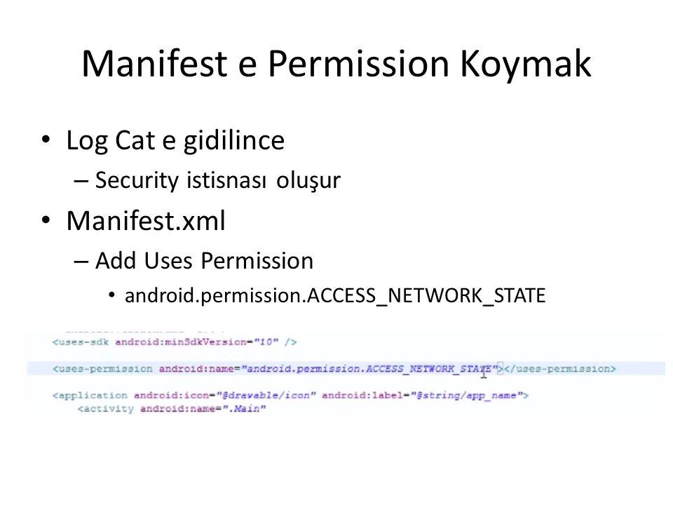 Manifest e Permission Koymak