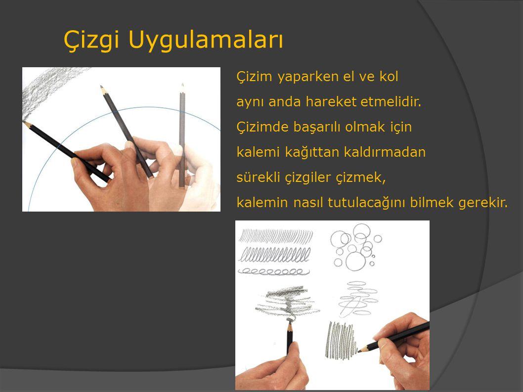 Çizgi Uygulamaları Çizim yaparken el ve kol