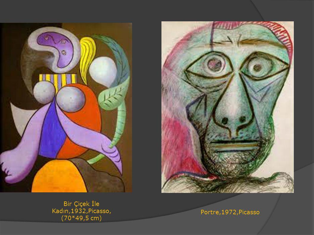 Bir Çiçek İle Kadın,1932,Picasso,(70*49,5 cm)