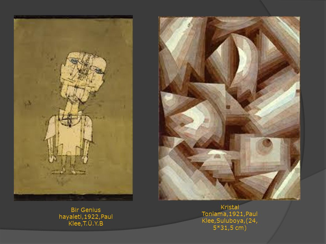 Kristal Tonlama,1921,Paul Klee,Suluboya,(24,5*31,5 cm)