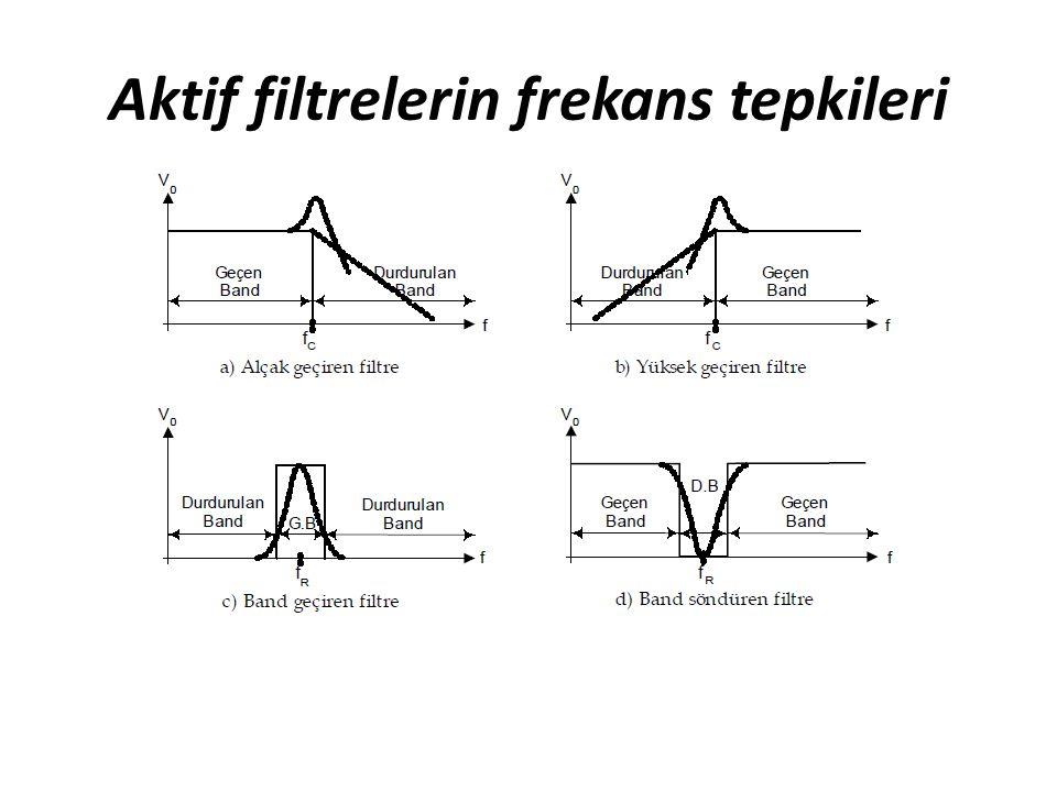 Aktif filtrelerin frekans tepkileri